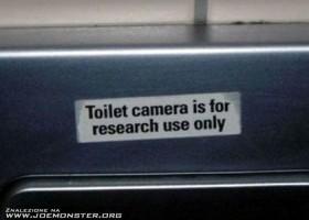 Une camera dans les toilettes