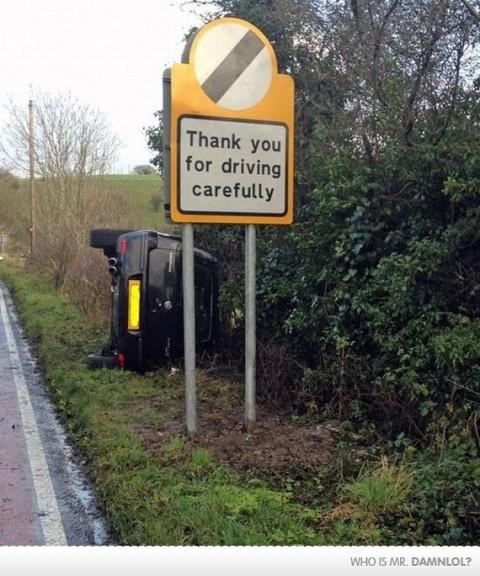 Merci de conduire prudemment