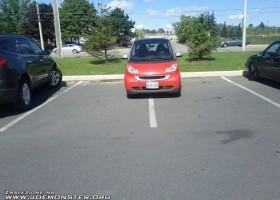 Difficile de garer une smart