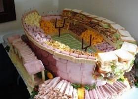Buffet stade de football americain
