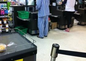 Faire ses courses en pyjama