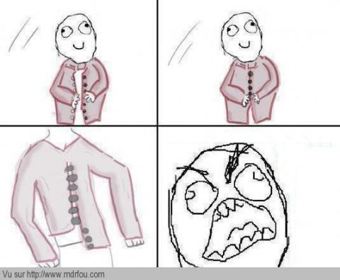 Boutonner sa chemise et se tromper