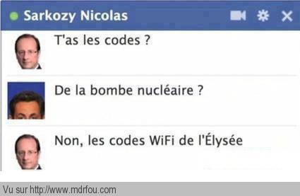 Chat entre nico et hollande