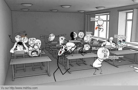 Lorsque le prof sort 5 minutes