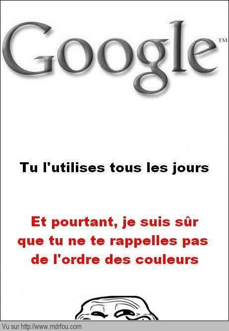 Qui se rappelle les couleurs du logo Google
