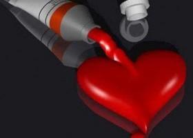 Un tube de coeur