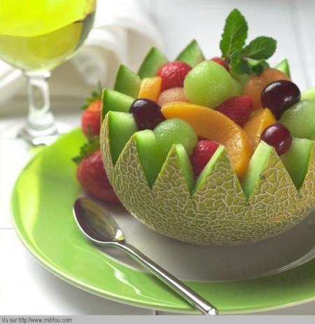 Une bonne salade de fruits exotiques