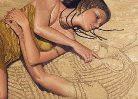Une main qui sort du sable
