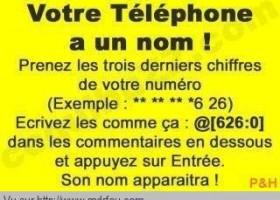 Le nom de votre téléphone