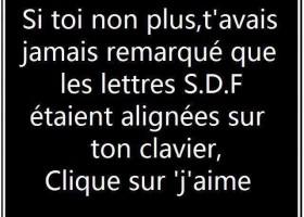 Les lettres SDF