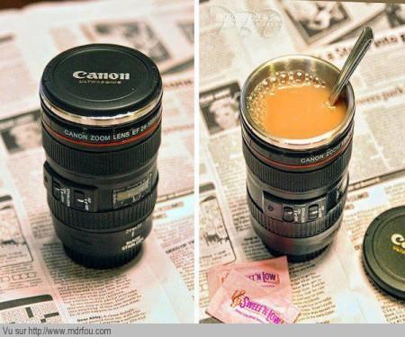 Excellent le thermos pour le café qui ressemble à un objectif canon