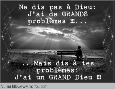 Les problèmes et Dieu