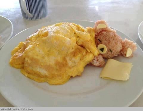 Une omelette de nounours