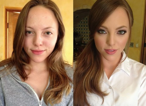 Avant et après maquillage