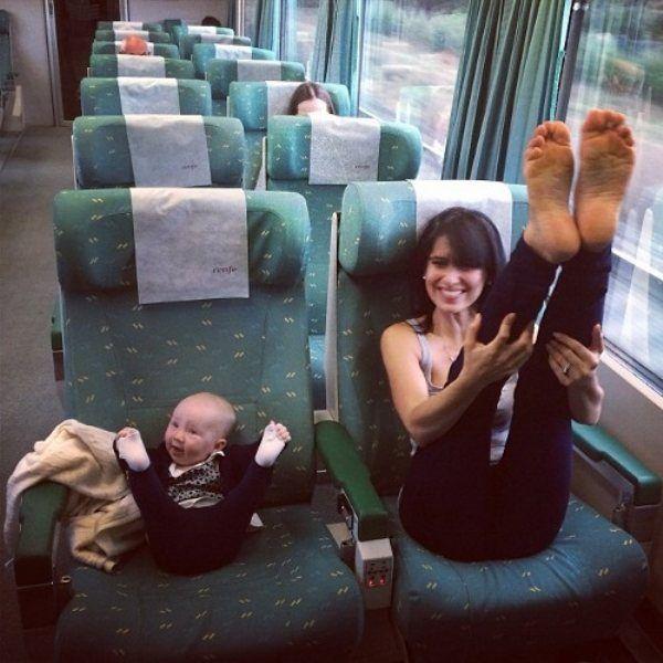 Bébé fait son sport comme maman