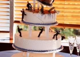 Gâteau de mariage suite à un crash