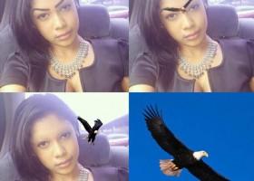 Elle a des sourcils en forme d'aigle