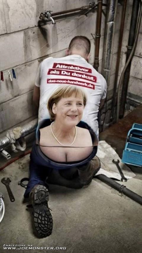 Le decoletté de Merkel