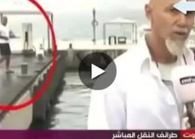 Le fail du selfie pendant un reportage
