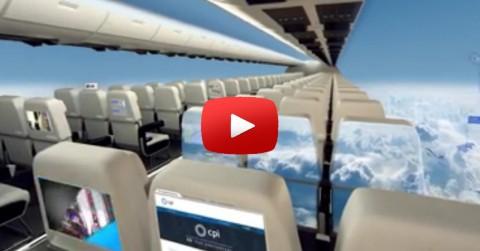 Les avions sans fenetres pourraient etre l'avenir