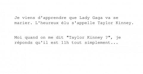 Lady Gaga va se marier avec Taulor Kinney