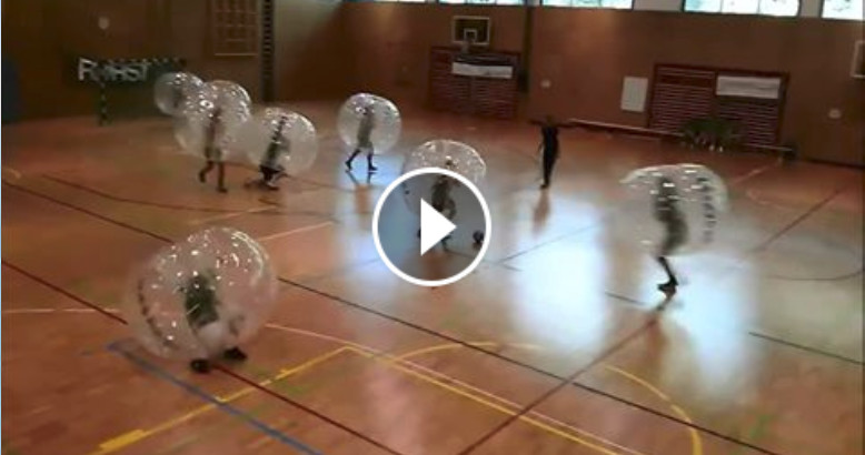 video bubble football