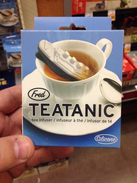 Teatanic - infuseur de thé en forme de titanic